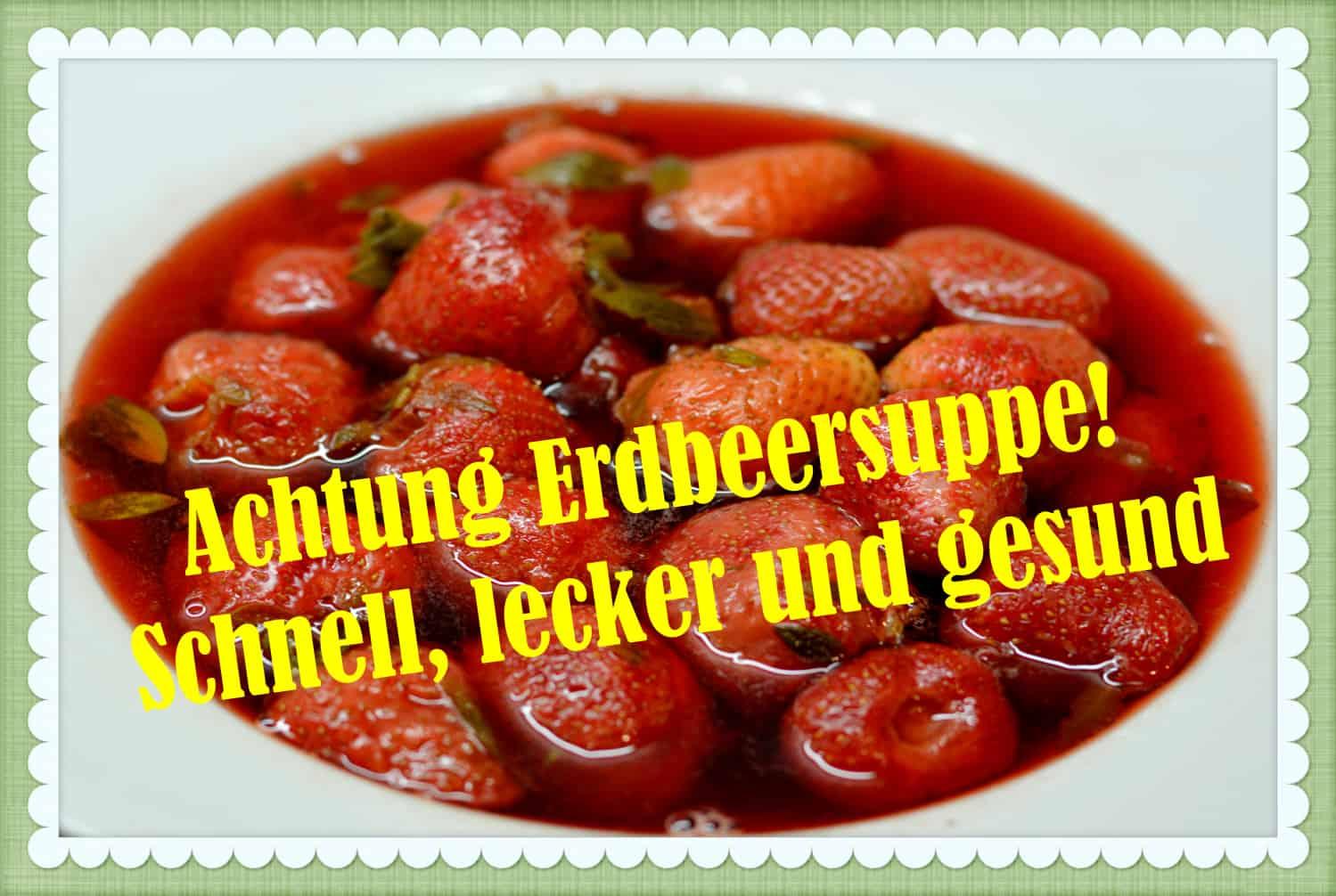 Erdbeersuppe