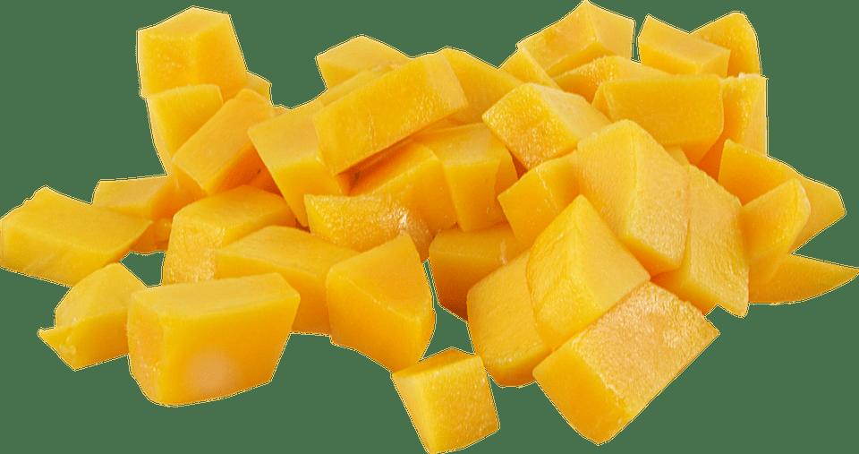 Mango geschnitten